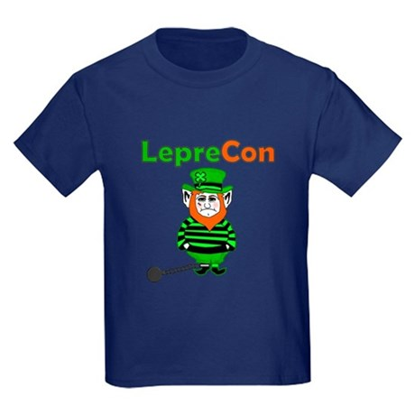 Funny Leprechaun Convict Kids Dark T-Shirt