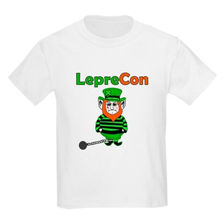 Funny Leprechaun Convict Kids Light T-Shirt