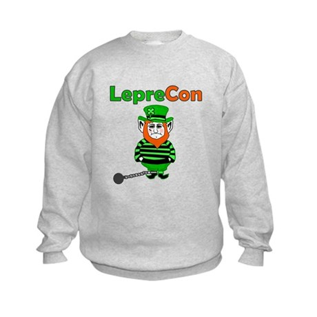 Funny Leprechaun Convict Kids Sweatshirt