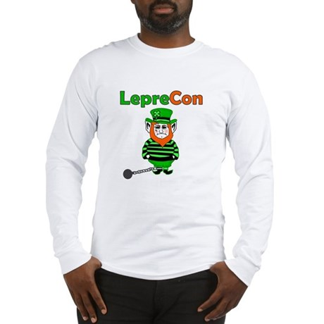 Funny Leprechaun Convict Long Sleeve T-Shirt