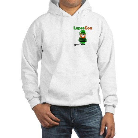 Funny Leprechaun Convict Hooded Sweatshirt