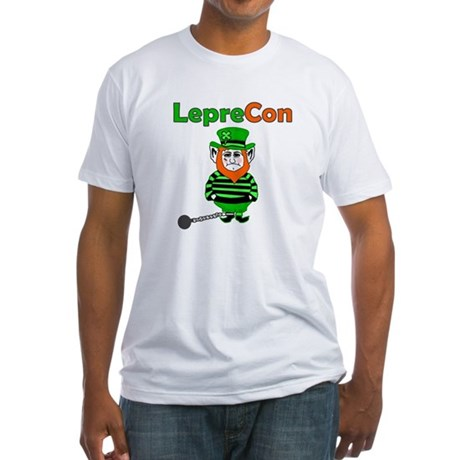 Funny Leprechaun Convict Fitted T-Shirt