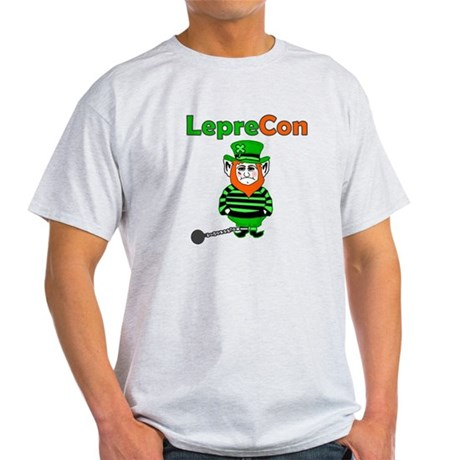 Funny Leprechaun Convict Light T-Shirt