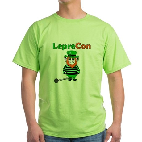 Funny Leprechaun Convict Green T-Shirt