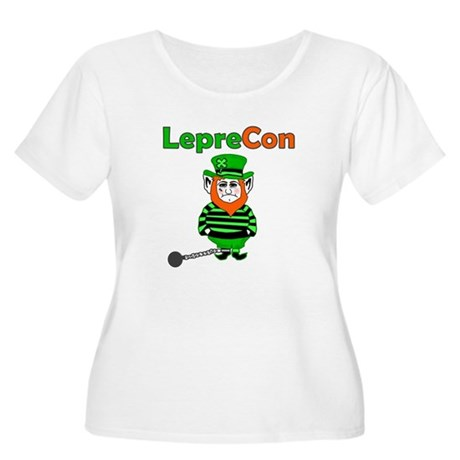 Funny Leprechaun Convict Women's Plus Size Scoop N