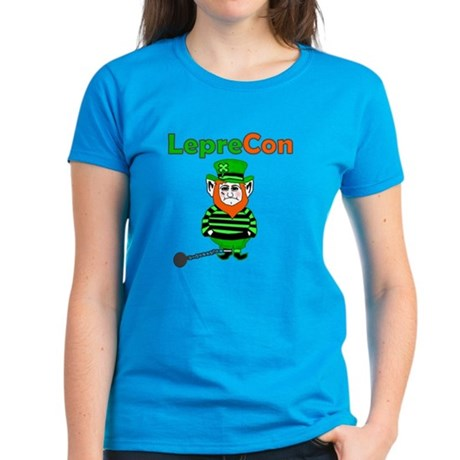 Funny Leprechaun Convict Women's Dark T-Shirt