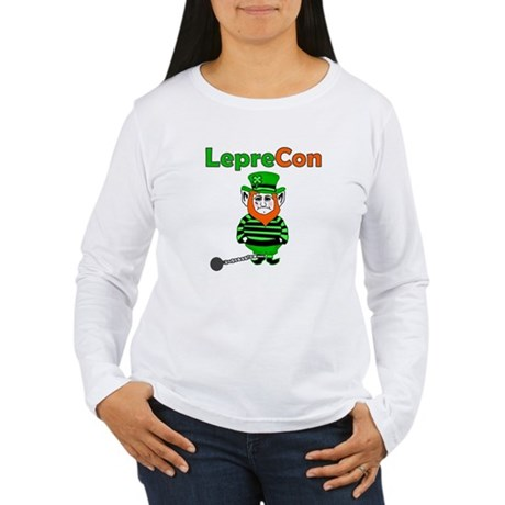Funny Leprechaun Convict Women's Long Sleeve T-Shi