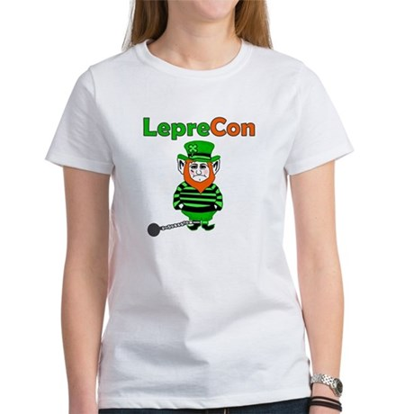 Funny Leprechaun Convict Women's T-Shirt