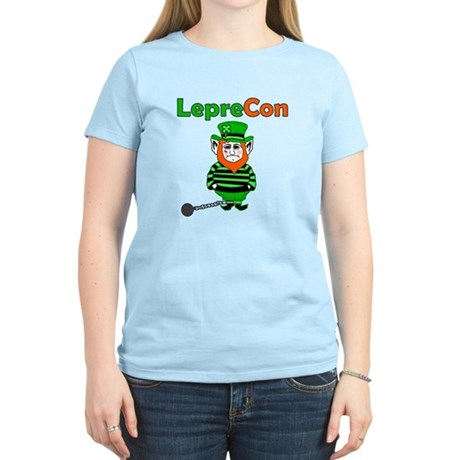 Funny Leprechaun Convict Women's Light T-Shirt