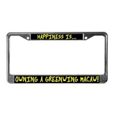 HI Owning Greenwing Macaw License Plate Frame
