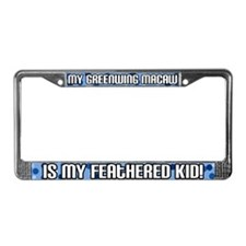 Greenwing Macaw Feathered Kid License Plate Frame