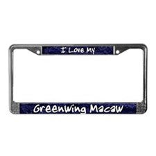 Funky Love Greenwing Macaw License Plate Frame