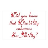 Disability = Sexability Postcards (Package of 8)