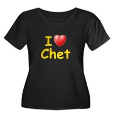 I Love Chet (L) Women's Plus Size Scoop Neck Dark