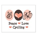 Bicycle Peace Love Cycling Small Poster