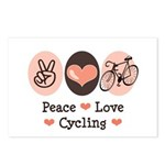 Bicycle Peace Love Cycling Postcards (Package of 8