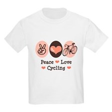 Bicycle Peace Love Cycling T-Shirt