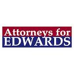 Attorneys for Edwards bumper sticker