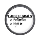 Pediatrician Career Goals Wall Clock
