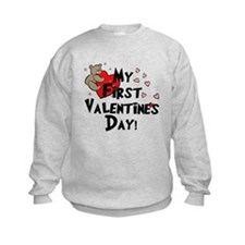 First Valentine's Bear Heart Sweatshirt