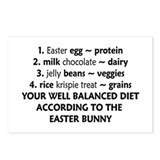 Easter Bunny Diet Postcards (Package of 8)