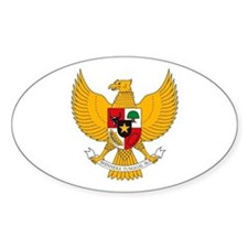 Indonesia Coat of Arms Oval Decal