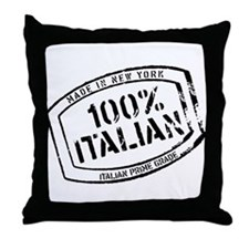 100% Italian Throw Pillow