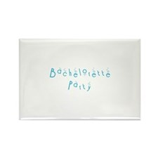 Bachelorette Party - Blue Bub Rectangle Magnet (10