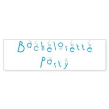 Bachelorette Party - Blue Bub Bumper Bumper Sticker