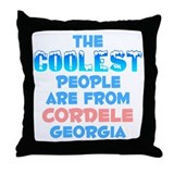 Coolest: Cordele, GA Throw Pillow
