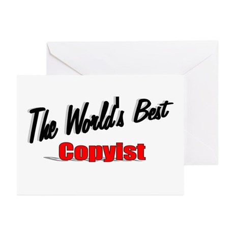 &quot;The World's Best Copyist&quot; Greeting Cards (Pk of 1