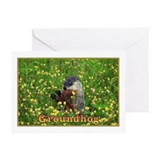 <B>HAPPY GROUNDHOG DAY</B> Greeting Card
