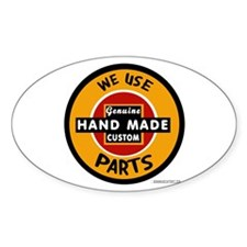 CUSTOM PARTS Oval Decal