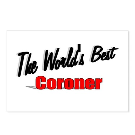 """The World's Best Coroner"" Postcards (Package of 8"