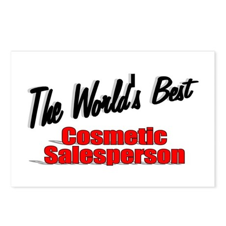 """The World's Best Cosmetic Salesperson"" Postcards"
