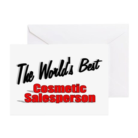 """The World's Best Cosmetic Salesperson"" Greeting C"