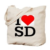 I Love South Dakota/San Diego - Tote Bag