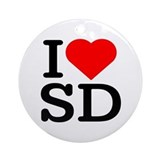 I Love South Dakota/San Diego - Keepsake (Round)