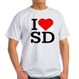 I Love South Dakota/San Diego - Ash Grey T-Shirt