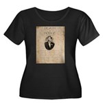 Death in Dodge Women's Plus Size Scoop Neck Dark T