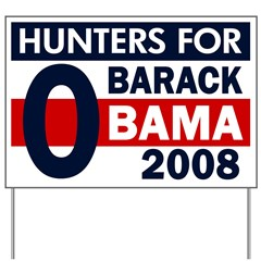 Hunters for Barack Obama Yard Sign