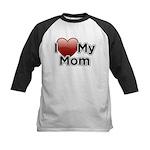 Love Mom Kids Baseball Jersey
