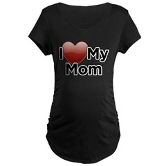 Love Mom Maternity Dark T-Shirt