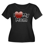 Love Mom Women's Plus Size Scoop Neck Dark T-Shirt