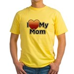 Love Mom Yellow T-Shirt