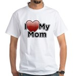 Love Mom White T-Shirt