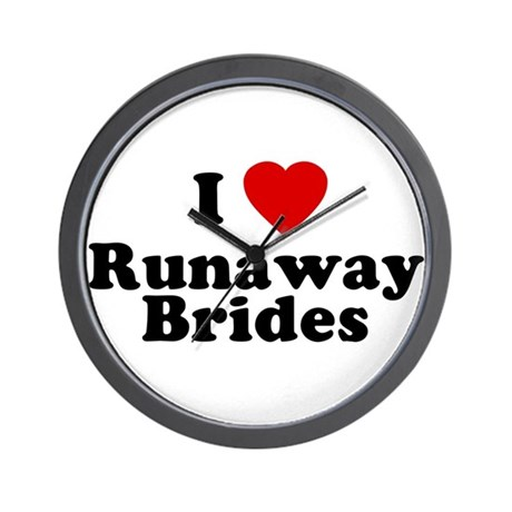 I Love Runaway Brides Wall Clock