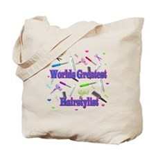World's Greatest Hairstylist Tote Bag