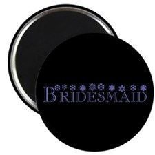 "Bridesmaid - Snowflakes 2.25"" Magnet (10 pack)"