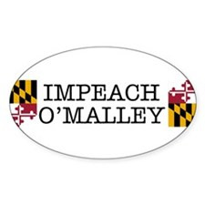 Impeach O'Malley Oval Decal